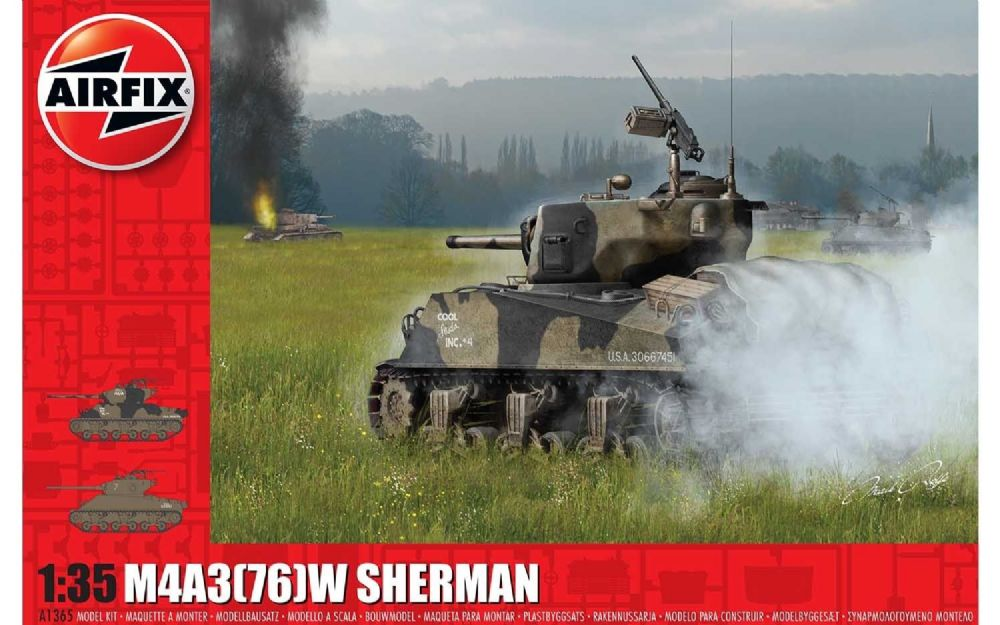 Airfix M4A3(76)W, Battle of the Bulge 1:35